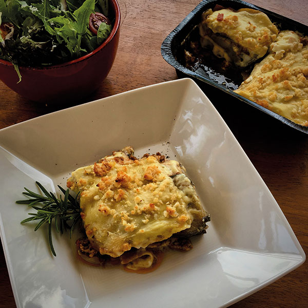 Lamb Moussaka & Greek Salad