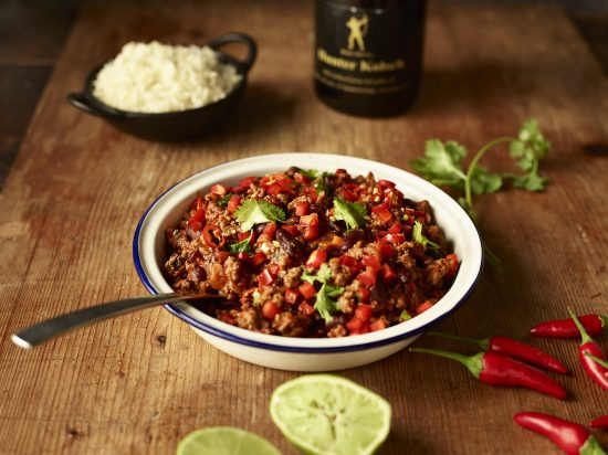 Mexican Chilli Beef with Fragrant Basmati Rice